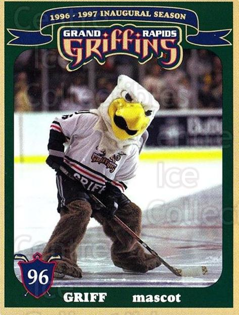 1996-97 Grand Rapids Griffins #22 Mascot<br/>1 In Stock - $3.00 each - <a href=https://centericecollectibles.foxycart.com/cart?name=1996-97%20Grand%20Rapids%20Griffins%20%2322%20Mascot...&quantity_max=1&price=$3.00&code=731695 class=foxycart> Buy it now! </a>