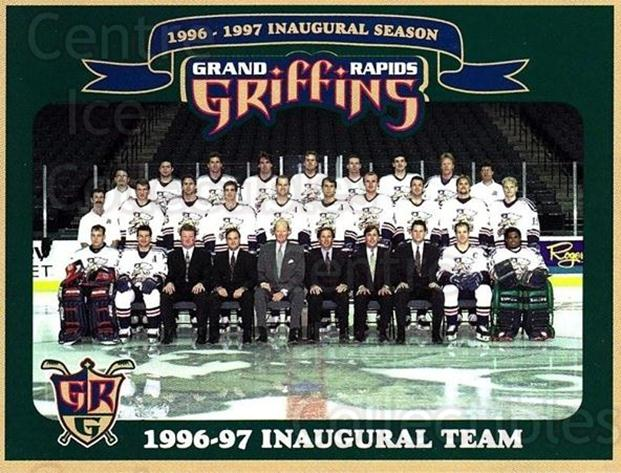 1996-97 Grand Rapids Griffins #24 Team Photo<br/>1 In Stock - $3.00 each - <a href=https://centericecollectibles.foxycart.com/cart?name=1996-97%20Grand%20Rapids%20Griffins%20%2324%20Team%20Photo...&quantity_max=1&price=$3.00&code=731697 class=foxycart> Buy it now! </a>