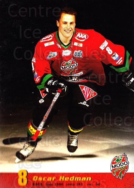 2004-05 Swedish MODO Hockey Postcards #6 Oscar Hedman<br/>1 In Stock - $3.00 each - <a href=https://centericecollectibles.foxycart.com/cart?name=2004-05%20Swedish%20MODO%20Hockey%20Postcards%20%236%20Oscar%20Hedman...&quantity_max=1&price=$3.00&code=731770 class=foxycart> Buy it now! </a>
