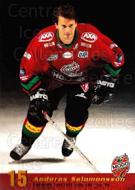 2004-05 Swedish MODO Hockey Postcards #9 Andreas Salomonsson<br/>1 In Stock - $3.00 each - <a href=https://centericecollectibles.foxycart.com/cart?name=2004-05%20Swedish%20MODO%20Hockey%20Postcards%20%239%20Andreas%20Salomon...&quantity_max=1&price=$3.00&code=731773 class=foxycart> Buy it now! </a>
