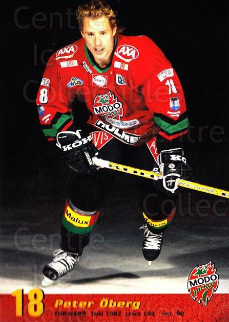2004-05 Swedish MODO Hockey Postcards #11 Peter Oberg<br/>1 In Stock - $3.00 each - <a href=https://centericecollectibles.foxycart.com/cart?name=2004-05%20Swedish%20MODO%20Hockey%20Postcards%20%2311%20Peter%20Oberg...&quantity_max=1&price=$3.00&code=731774 class=foxycart> Buy it now! </a>