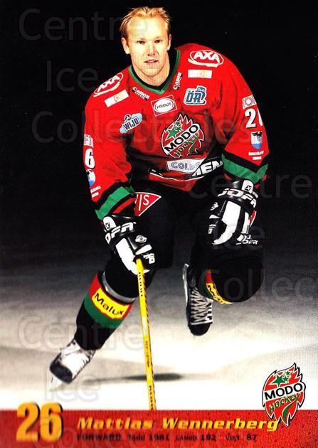2004-05 Swedish MODO Hockey Postcards #18 Mattias Wennerberg<br/>1 In Stock - $3.00 each - <a href=https://centericecollectibles.foxycart.com/cart?name=2004-05%20Swedish%20MODO%20Hockey%20Postcards%20%2318%20Mattias%20Wennerb...&quantity_max=1&price=$3.00&code=731779 class=foxycart> Buy it now! </a>