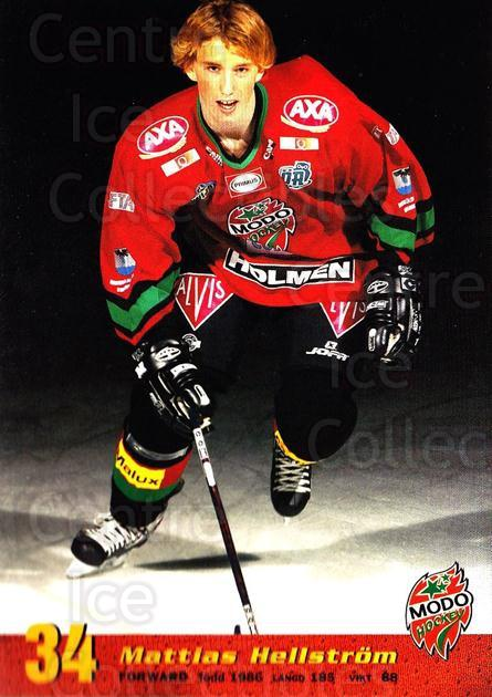 2004-05 Swedish MODO Hockey Postcards #24 Mattias Hellstrom<br/>1 In Stock - $3.00 each - <a href=https://centericecollectibles.foxycart.com/cart?name=2004-05%20Swedish%20MODO%20Hockey%20Postcards%20%2324%20Mattias%20Hellstr...&quantity_max=1&price=$3.00&code=731784 class=foxycart> Buy it now! </a>