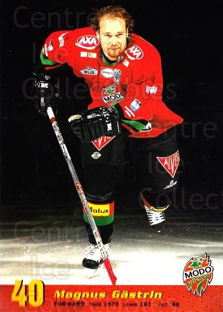 2004-05 Swedish MODO Hockey Postcards #27 Magnus Gastrin<br/>1 In Stock - $3.00 each - <a href=https://centericecollectibles.foxycart.com/cart?name=2004-05%20Swedish%20MODO%20Hockey%20Postcards%20%2327%20Magnus%20Gastrin...&quantity_max=1&price=$3.00&code=731786 class=foxycart> Buy it now! </a>