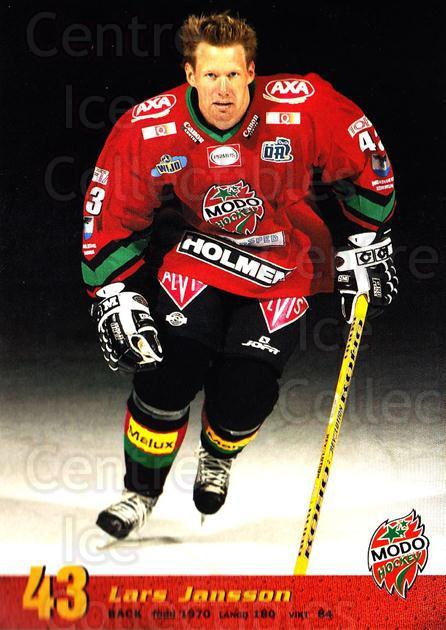 2004-05 Swedish MODO Hockey Postcards #28 Lars Jansson<br/>1 In Stock - $3.00 each - <a href=https://centericecollectibles.foxycart.com/cart?name=2004-05%20Swedish%20MODO%20Hockey%20Postcards%20%2328%20Lars%20Jansson...&quantity_max=1&price=$3.00&code=731787 class=foxycart> Buy it now! </a>