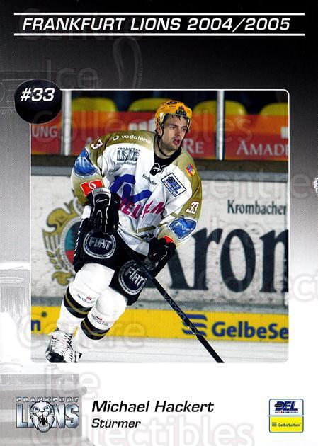 2004-05 German Frankfurt Lions Postcards #7 Michael Hackert<br/>2 In Stock - $3.00 each - <a href=https://centericecollectibles.foxycart.com/cart?name=2004-05%20German%20Frankfurt%20Lions%20Postcards%20%237%20Michael%20Hackert...&quantity_max=2&price=$3.00&code=731840 class=foxycart> Buy it now! </a>