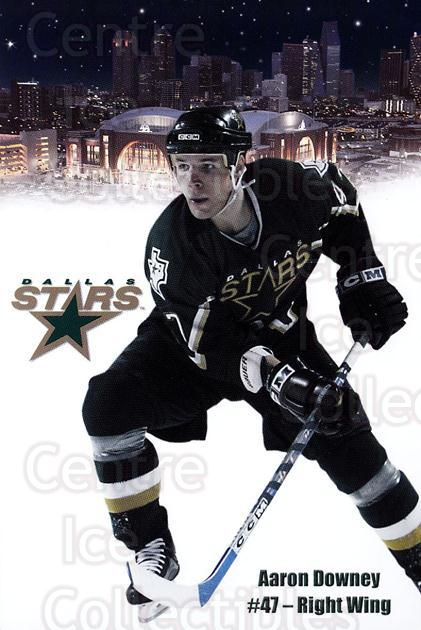 2003-04 Dallas Stars Postcards #6 Aaron Downey<br/>1 In Stock - $3.00 each - <a href=https://centericecollectibles.foxycart.com/cart?name=2003-04%20Dallas%20Stars%20Postcards%20%236%20Aaron%20Downey...&quantity_max=1&price=$3.00&code=731996 class=foxycart> Buy it now! </a>