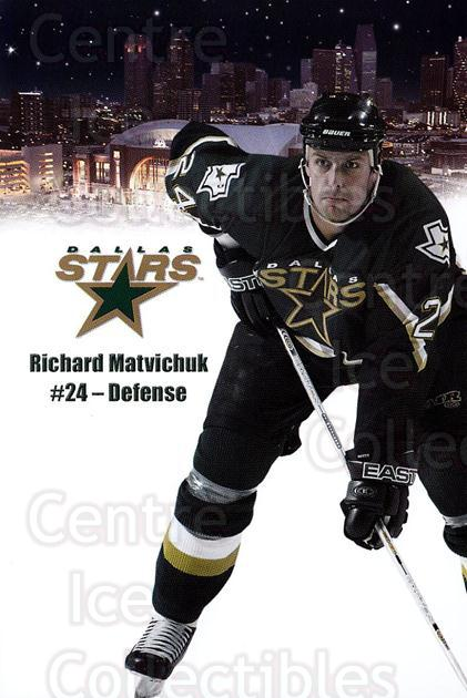 2003-04 Dallas Stars Postcards #14 Richard Matvichuk<br/>1 In Stock - $3.00 each - <a href=https://centericecollectibles.foxycart.com/cart?name=2003-04%20Dallas%20Stars%20Postcards%20%2314%20Richard%20Matvich...&quantity_max=1&price=$3.00&code=732004 class=foxycart> Buy it now! </a>