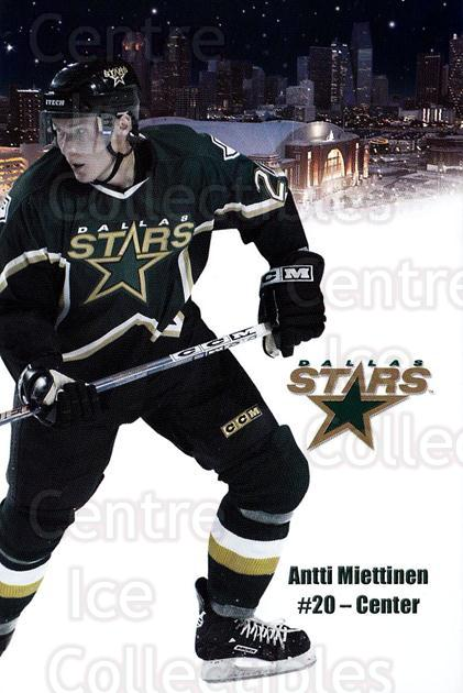 2003-04 Dallas Stars Postcards #15 Antti Miettinen<br/>1 In Stock - $3.00 each - <a href=https://centericecollectibles.foxycart.com/cart?name=2003-04%20Dallas%20Stars%20Postcards%20%2315%20Antti%20Miettinen...&quantity_max=1&price=$3.00&code=732005 class=foxycart> Buy it now! </a>