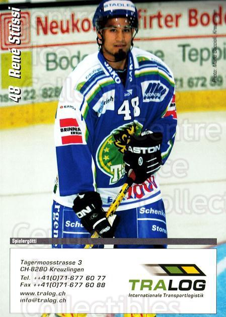 2004-05 Swiss HC Thurgau Postcards #25 Rene Stussi<br/>1 In Stock - $3.00 each - <a href=https://centericecollectibles.foxycart.com/cart?name=2004-05%20Swiss%20HC%20Thurgau%20Postcards%20%2325%20Rene%20Stussi...&quantity_max=1&price=$3.00&code=732043 class=foxycart> Buy it now! </a>