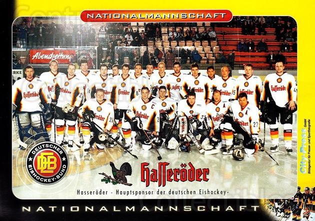 2002-03 German National Team Salt Lake City Postcards #41 Team Photo, German National Team<br/>1 In Stock - $3.00 each - <a href=https://centericecollectibles.foxycart.com/cart?name=2002-03%20German%20National%20Team%20Salt%20Lake%20City%20Postcards%20%2341%20Team%20Photo,%20Ger...&quantity_max=1&price=$3.00&code=732087 class=foxycart> Buy it now! </a>