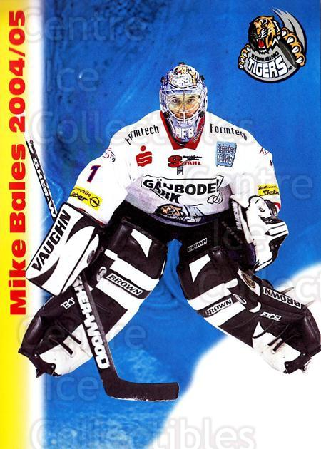 2004-05 German Straubing Tigers Postcards #1 Mike Bales<br/>1 In Stock - $3.00 each - <a href=https://centericecollectibles.foxycart.com/cart?name=2004-05%20German%20Straubing%20Tigers%20Postcards%20%231%20Mike%20Bales...&quantity_max=1&price=$3.00&code=732088 class=foxycart> Buy it now! </a>