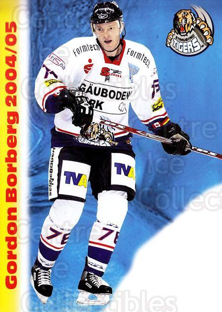 2004-05 German Straubing Tigers Postcards #3 Gordon Borberg<br/>1 In Stock - $3.00 each - <a href=https://centericecollectibles.foxycart.com/cart?name=2004-05%20German%20Straubing%20Tigers%20Postcards%20%233%20Gordon%20Borberg...&quantity_max=1&price=$3.00&code=732090 class=foxycart> Buy it now! </a>