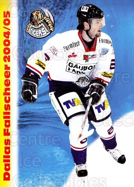 2004-05 German Straubing Tigers Postcards #7 Dallas Fallscheer<br/>1 In Stock - $3.00 each - <a href=https://centericecollectibles.foxycart.com/cart?name=2004-05%20German%20Straubing%20Tigers%20Postcards%20%237%20Dallas%20Fallsche...&quantity_max=1&price=$3.00&code=732094 class=foxycart> Buy it now! </a>