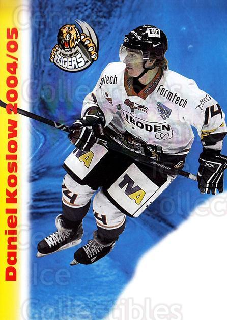 2004-05 German Straubing Tigers Postcards #15 Daniel Koslow<br/>1 In Stock - $3.00 each - <a href=https://centericecollectibles.foxycart.com/cart?name=2004-05%20German%20Straubing%20Tigers%20Postcards%20%2315%20Daniel%20Koslow...&quantity_max=1&price=$3.00&code=732102 class=foxycart> Buy it now! </a>