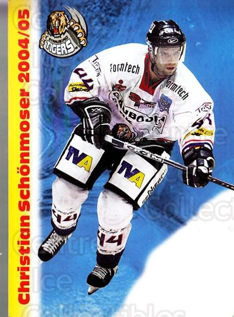 2004-05 German Straubing Tigers Postcards #25 Christian Schonmoser<br/>1 In Stock - $3.00 each - <a href=https://centericecollectibles.foxycart.com/cart?name=2004-05%20German%20Straubing%20Tigers%20Postcards%20%2325%20Christian%20Schon...&quantity_max=1&price=$3.00&code=732112 class=foxycart> Buy it now! </a>