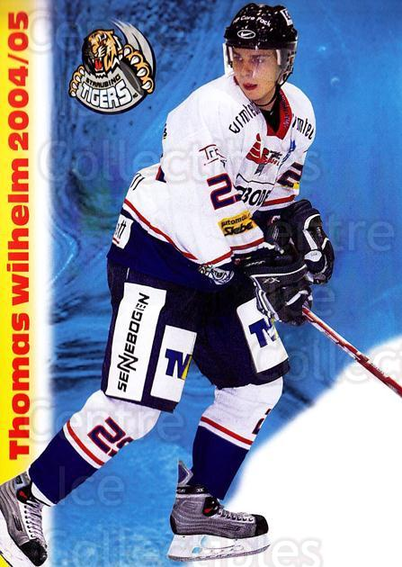 2004-05 German Straubing Tigers Postcards #26 Thomas Wilhelm<br/>1 In Stock - $3.00 each - <a href=https://centericecollectibles.foxycart.com/cart?name=2004-05%20German%20Straubing%20Tigers%20Postcards%20%2326%20Thomas%20Wilhelm...&quantity_max=1&price=$3.00&code=732113 class=foxycart> Buy it now! </a>