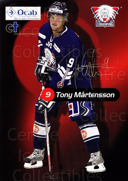 2004-05 Swedish Linkoping HC Postcards #14 Tony Martensson<br/>1 In Stock - $3.00 each - <a href=https://centericecollectibles.foxycart.com/cart?name=2004-05%20Swedish%20Linkoping%20HC%20Postcards%20%2314%20Tony%20Martensson...&quantity_max=1&price=$3.00&code=732127 class=foxycart> Buy it now! </a>