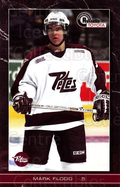 2004-05 Peterborough Petes Postcards #7 Mark Flood<br/>1 In Stock - $5.00 each - <a href=https://centericecollectibles.foxycart.com/cart?name=2004-05%20Peterborough%20Petes%20Postcards%20%237%20Mark%20Flood...&quantity_max=1&price=$5.00&code=732144 class=foxycart> Buy it now! </a>
