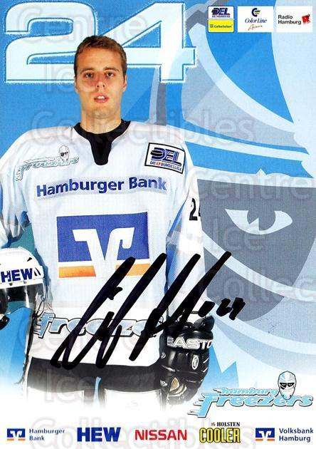 2004-05 German Hamburg Freezers Postcards #1 Nils Antons<br/>1 In Stock - $3.00 each - <a href=https://centericecollectibles.foxycart.com/cart?name=2004-05%20German%20Hamburg%20Freezers%20Postcards%20%231%20Nils%20Antons...&quantity_max=1&price=$3.00&code=732186 class=foxycart> Buy it now! </a>