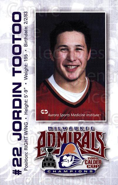 2004-05 Milwaukee Admirals Postcards #19 Jordin Tootoo<br/>1 In Stock - $5.00 each - <a href=https://centericecollectibles.foxycart.com/cart?name=2004-05%20Milwaukee%20Admirals%20Postcards%20%2319%20Jordin%20Tootoo...&quantity_max=1&price=$5.00&code=732227 class=foxycart> Buy it now! </a>
