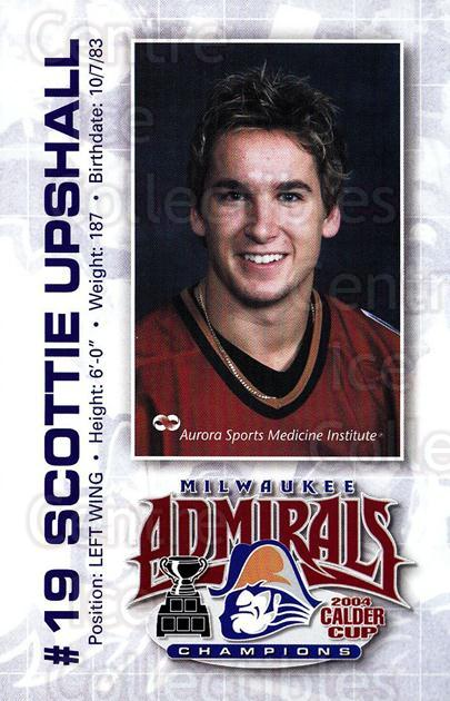 2004-05 Milwaukee Admirals Postcards #20 Scottie Upshall<br/>2 In Stock - $3.00 each - <a href=https://centericecollectibles.foxycart.com/cart?name=2004-05%20Milwaukee%20Admirals%20Postcards%20%2320%20Scottie%20Upshall...&quantity_max=2&price=$3.00&code=732228 class=foxycart> Buy it now! </a>