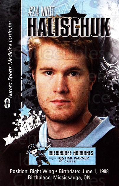 2010-11 Milwaukee Admirals Postcards #7 Matt Halischuk<br/>2 In Stock - $3.00 each - <a href=https://centericecollectibles.foxycart.com/cart?name=2010-11%20Milwaukee%20Admirals%20Postcards%20%237%20Matt%20Halischuk...&quantity_max=2&price=$3.00&code=732256 class=foxycart> Buy it now! </a>