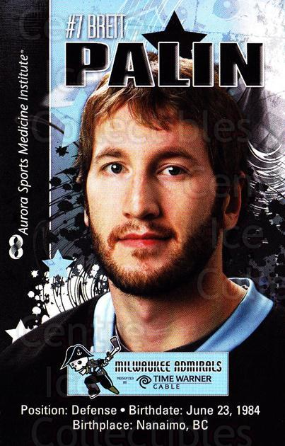 2010-11 Milwaukee Admirals Postcards #15 Brett Palin<br/>2 In Stock - $3.00 each - <a href=https://centericecollectibles.foxycart.com/cart?name=2010-11%20Milwaukee%20Admirals%20Postcards%20%2315%20Brett%20Palin...&quantity_max=2&price=$3.00&code=732264 class=foxycart> Buy it now! </a>