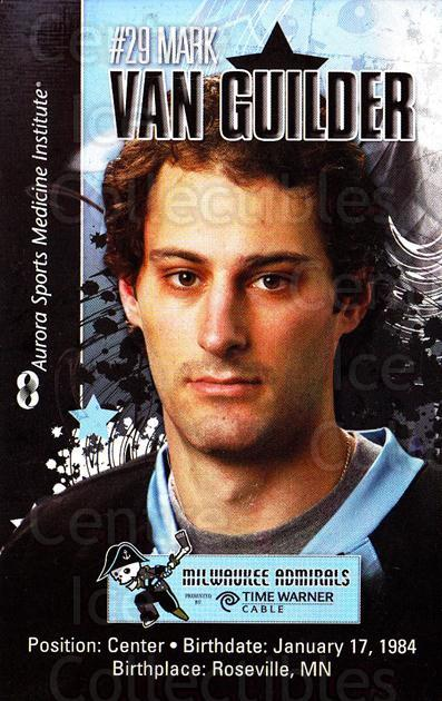 2010-11 Milwaukee Admirals Postcards #21 Mark Van Guilder<br/>2 In Stock - $3.00 each - <a href=https://centericecollectibles.foxycart.com/cart?name=2010-11%20Milwaukee%20Admirals%20Postcards%20%2321%20Mark%20Van%20Guilde...&quantity_max=2&price=$3.00&code=732270 class=foxycart> Buy it now! </a>