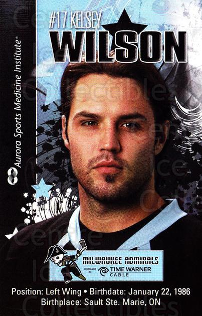 2010-11 Milwaukee Admirals Postcards #22 Kelsey Wilson<br/>2 In Stock - $3.00 each - <a href=https://centericecollectibles.foxycart.com/cart?name=2010-11%20Milwaukee%20Admirals%20Postcards%20%2322%20Kelsey%20Wilson...&quantity_max=2&price=$3.00&code=732271 class=foxycart> Buy it now! </a>