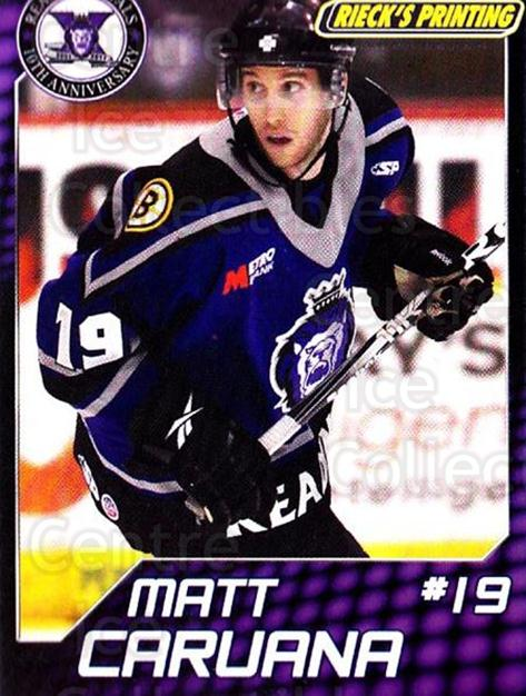2010-11 Reading Royals #2 Matt Caruana<br/>1 In Stock - $3.00 each - <a href=https://centericecollectibles.foxycart.com/cart?name=2010-11%20Reading%20Royals%20%232%20Matt%20Caruana...&quantity_max=1&price=$3.00&code=732299 class=foxycart> Buy it now! </a>