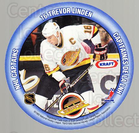 1993-94 Kraft Peanut Butter Discs NHL Captains #10 Trevor Linden, Troy Loney<br/>8 In Stock - $2.00 each - <a href=https://centericecollectibles.foxycart.com/cart?name=1993-94%20Kraft%20Peanut%20Butter%20Discs%20NHL%20Captains%20%2310%20Trevor%20Linden,%20...&quantity_max=8&price=$2.00&code=7322 class=foxycart> Buy it now! </a>