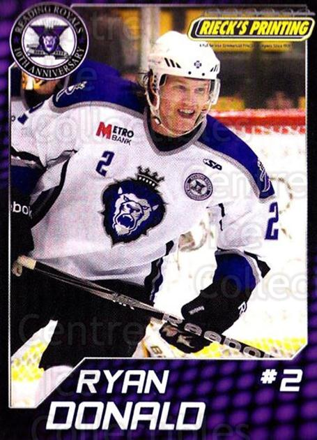 2010-11 Reading Royals #6 Ryan Donald<br/>1 In Stock - $3.00 each - <a href=https://centericecollectibles.foxycart.com/cart?name=2010-11%20Reading%20Royals%20%236%20Ryan%20Donald...&quantity_max=1&price=$3.00&code=732303 class=foxycart> Buy it now! </a>