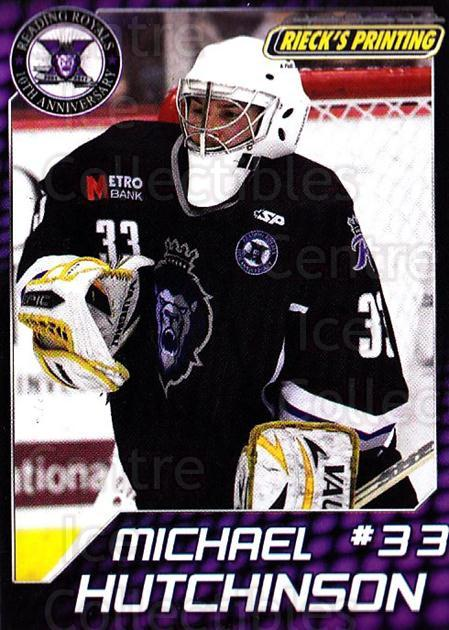 2010-11 Reading Royals #14 Michael Hutchinson<br/>1 In Stock - $3.00 each - <a href=https://centericecollectibles.foxycart.com/cart?name=2010-11%20Reading%20Royals%20%2314%20Michael%20Hutchin...&quantity_max=1&price=$3.00&code=732311 class=foxycart> Buy it now! </a>