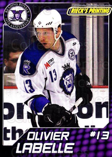 2010-11 Reading Royals #17 Olivier Labelle<br/>1 In Stock - $3.00 each - <a href=https://centericecollectibles.foxycart.com/cart?name=2010-11%20Reading%20Royals%20%2317%20Olivier%20Labelle...&quantity_max=1&price=$3.00&code=732314 class=foxycart> Buy it now! </a>
