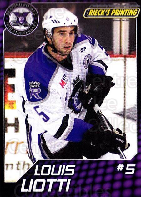 2010-11 Reading Royals #18 Louis Liotti<br/>1 In Stock - $3.00 each - <a href=https://centericecollectibles.foxycart.com/cart?name=2010-11%20Reading%20Royals%20%2318%20Louis%20Liotti...&quantity_max=1&price=$3.00&code=732315 class=foxycart> Buy it now! </a>