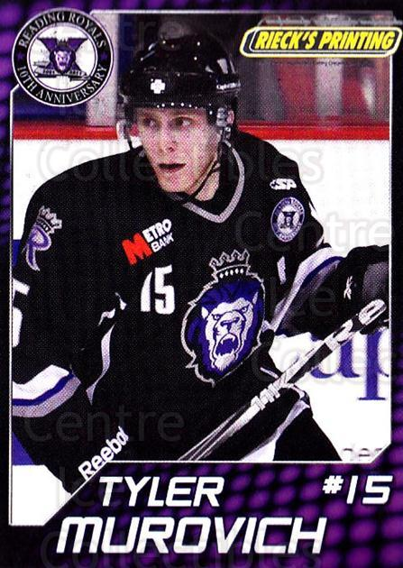 2010-11 Reading Royals #19 Tyler Murovich<br/>1 In Stock - $3.00 each - <a href=https://centericecollectibles.foxycart.com/cart?name=2010-11%20Reading%20Royals%20%2319%20Tyler%20Murovich...&quantity_max=1&price=$3.00&code=732316 class=foxycart> Buy it now! </a>