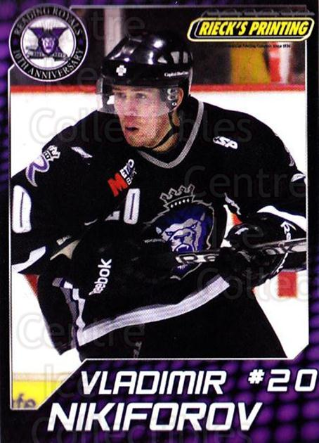 2010-11 Reading Royals #20 Vladimir Nikiforov<br/>1 In Stock - $3.00 each - <a href=https://centericecollectibles.foxycart.com/cart?name=2010-11%20Reading%20Royals%20%2320%20Vladimir%20Nikifo...&quantity_max=1&price=$3.00&code=732317 class=foxycart> Buy it now! </a>