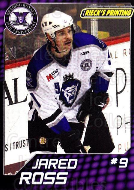 2010-11 Reading Royals #23 Jared Ross<br/>1 In Stock - $3.00 each - <a href=https://centericecollectibles.foxycart.com/cart?name=2010-11%20Reading%20Royals%20%2323%20Jared%20Ross...&quantity_max=1&price=$3.00&code=732320 class=foxycart> Buy it now! </a>