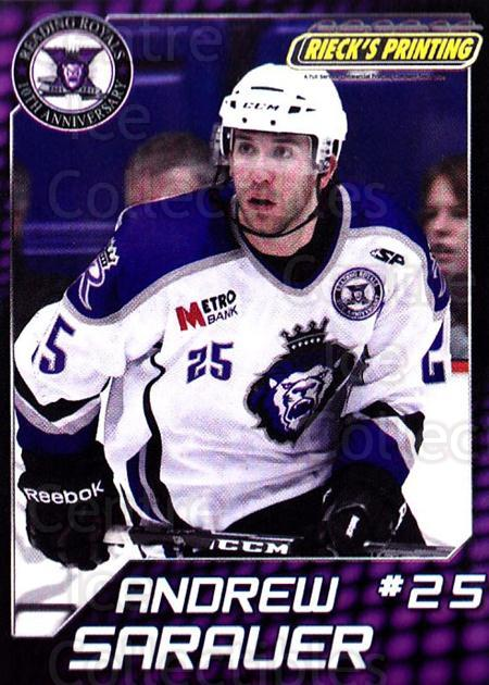 2010-11 Reading Royals #25 Andrew Sarauer<br/>1 In Stock - $3.00 each - <a href=https://centericecollectibles.foxycart.com/cart?name=2010-11%20Reading%20Royals%20%2325%20Andrew%20Sarauer...&quantity_max=1&price=$3.00&code=732322 class=foxycart> Buy it now! </a>