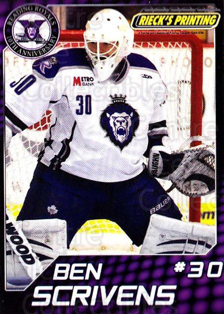 2010-11 Reading Royals #26 Ben Scrivens<br/>1 In Stock - $3.00 each - <a href=https://centericecollectibles.foxycart.com/cart?name=2010-11%20Reading%20Royals%20%2326%20Ben%20Scrivens...&quantity_max=1&price=$3.00&code=732323 class=foxycart> Buy it now! </a>