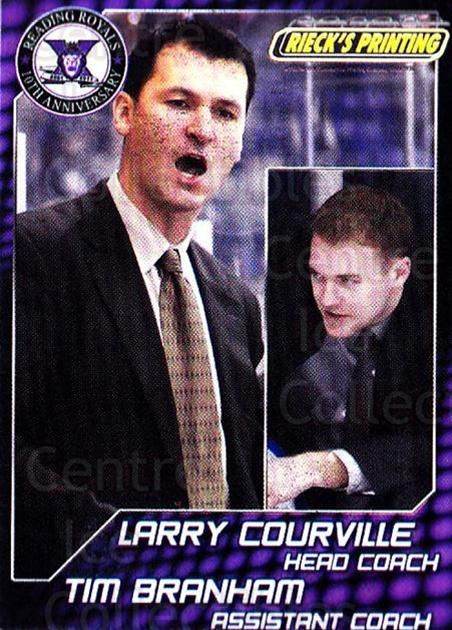 2010-11 Reading Royals #31 Tim Branham, Larry Courville<br/>1 In Stock - $3.00 each - <a href=https://centericecollectibles.foxycart.com/cart?name=2010-11%20Reading%20Royals%20%2331%20Tim%20Branham,%20La...&quantity_max=1&price=$3.00&code=732328 class=foxycart> Buy it now! </a>