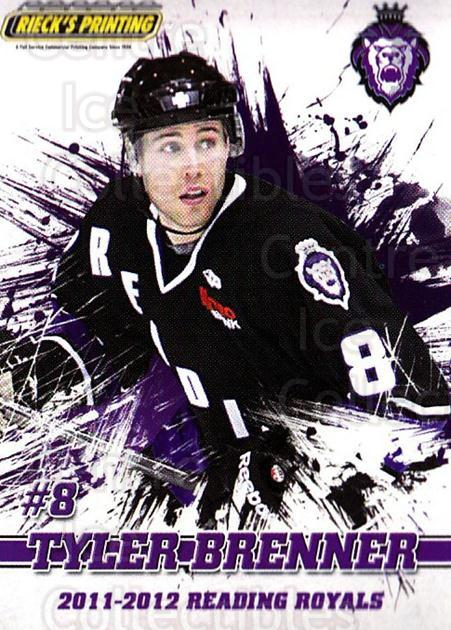 2011-12 Reading Royals #8 Tyler Brenner<br/>1 In Stock - $3.00 each - <a href=https://centericecollectibles.foxycart.com/cart?name=2011-12%20Reading%20Royals%20%238%20Tyler%20Brenner...&quantity_max=1&price=$3.00&code=732337 class=foxycart> Buy it now! </a>