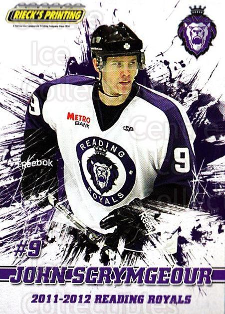 2011-12 Reading Royals #9 John Scrymgeour<br/>1 In Stock - $3.00 each - <a href=https://centericecollectibles.foxycart.com/cart?name=2011-12%20Reading%20Royals%20%239%20John%20Scrymgeour...&quantity_max=1&price=$3.00&code=732338 class=foxycart> Buy it now! </a>