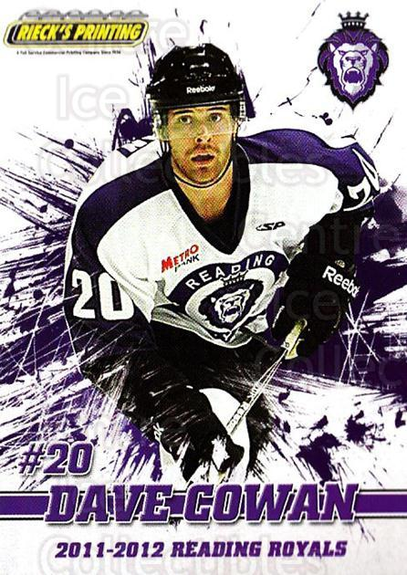 2011-12 Reading Royals #19 Dave Cowan<br/>1 In Stock - $3.00 each - <a href=https://centericecollectibles.foxycart.com/cart?name=2011-12%20Reading%20Royals%20%2319%20Dave%20Cowan...&quantity_max=1&price=$3.00&code=732348 class=foxycart> Buy it now! </a>