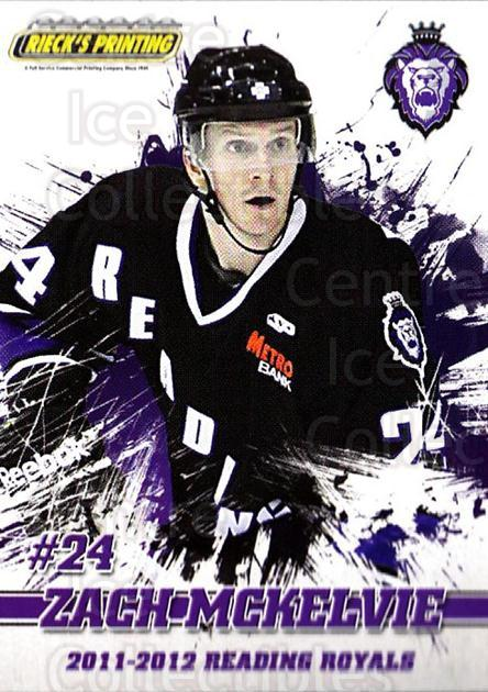 2011-12 Reading Royals #21 Zach McKelvie<br/>1 In Stock - $3.00 each - <a href=https://centericecollectibles.foxycart.com/cart?name=2011-12%20Reading%20Royals%20%2321%20Zach%20McKelvie...&quantity_max=1&price=$3.00&code=732350 class=foxycart> Buy it now! </a>