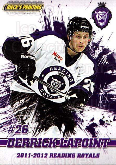2011-12 Reading Royals #22 Derrick LaPoint<br/>1 In Stock - $3.00 each - <a href=https://centericecollectibles.foxycart.com/cart?name=2011-12%20Reading%20Royals%20%2322%20Derrick%20LaPoint...&quantity_max=1&price=$3.00&code=732351 class=foxycart> Buy it now! </a>