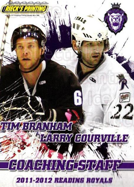 2011-12 Reading Royals #27 Larry Courville, Tim Branham<br/>1 In Stock - $3.00 each - <a href=https://centericecollectibles.foxycart.com/cart?name=2011-12%20Reading%20Royals%20%2327%20Larry%20Courville...&quantity_max=1&price=$3.00&code=732356 class=foxycart> Buy it now! </a>