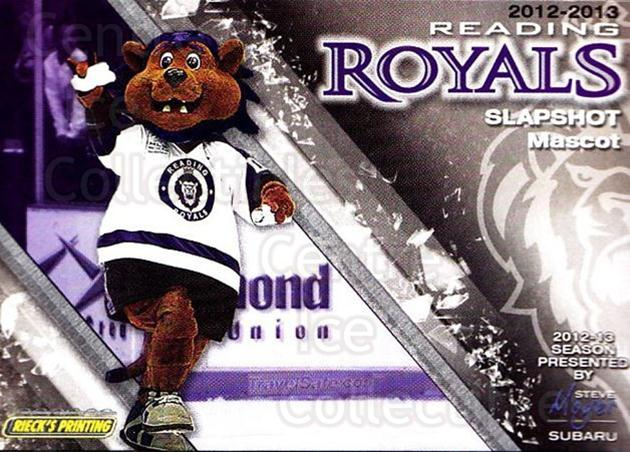 2012-13 Reading Royals #1 Mascot<br/>1 In Stock - $3.00 each - <a href=https://centericecollectibles.foxycart.com/cart?name=2012-13%20Reading%20Royals%20%231%20Mascot...&quantity_max=1&price=$3.00&code=732358 class=foxycart> Buy it now! </a>
