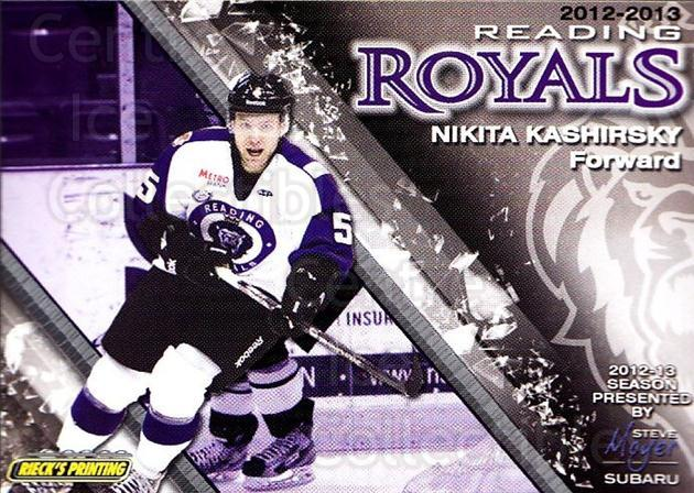 2012-13 Reading Royals #5 Nikita Kashirsky<br/>1 In Stock - $3.00 each - <a href=https://centericecollectibles.foxycart.com/cart?name=2012-13%20Reading%20Royals%20%235%20Nikita%20Kashirsk...&quantity_max=1&price=$3.00&code=732362 class=foxycart> Buy it now! </a>